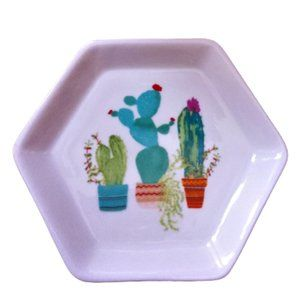Ceramic cactus decorative jewellery trinket dish